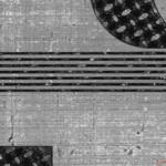 タッチパネル用配線パターン図